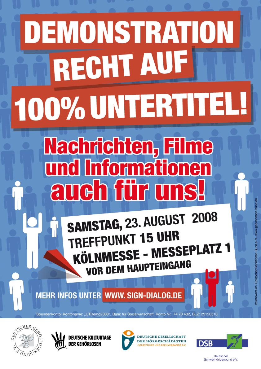 Plakat UT-Demo